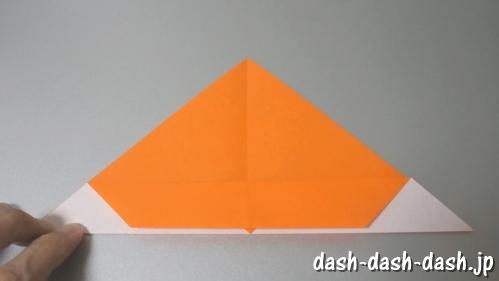 花火の折り紙(切り絵の作り方)05