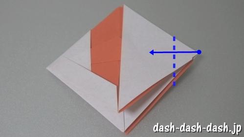 [七夕]金魚の折り紙の折り方(簡単かぶと)20