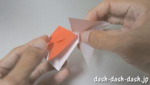[七夕]金魚の折り紙の折り方(簡単かぶと)24