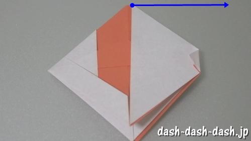 [七夕]金魚の折り紙の折り方(簡単かぶと)21