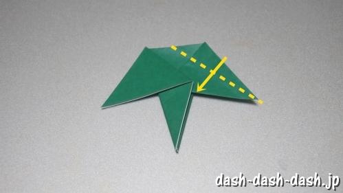 笹の葉の折り紙の作り方07