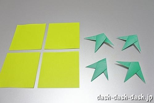 笹の葉の折り紙の作り方10