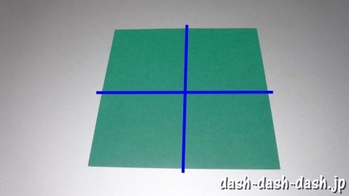 笹の葉の折り紙の作り方01