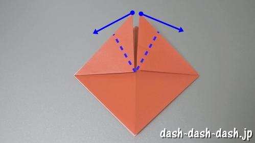 [七夕]金魚の折り紙の折り方(簡単かぶと)06