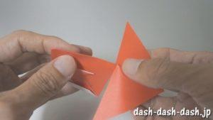 [七夕]金魚の折り紙の折り方(簡単かぶと)16