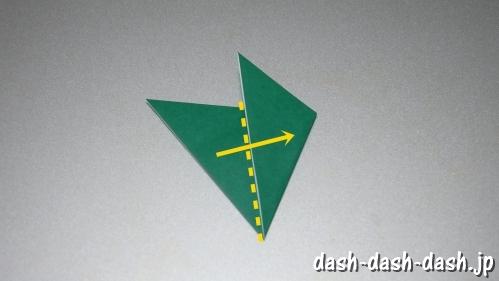 笹の葉の折り紙の作り方04