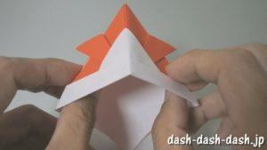 [七夕]金魚の折り紙の折り方(簡単かぶと)11