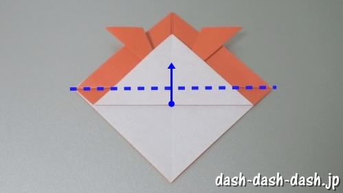 [七夕]金魚の折り紙の折り方(簡単かぶと)08