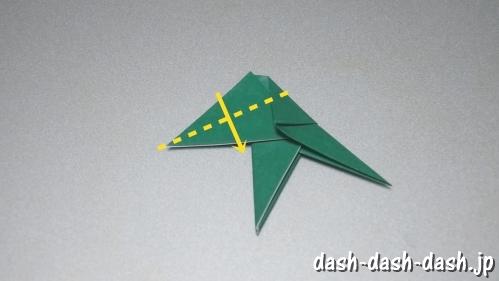 笹の葉の折り紙の作り方08