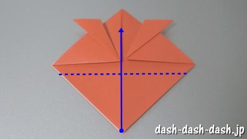 [七夕]金魚の折り紙の折り方(簡単かぶと)07