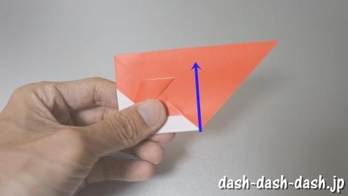 [七夕]金魚の折り紙の折り方(簡単かぶと)14