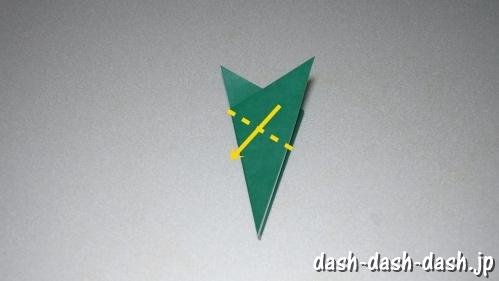 笹の葉の折り紙の作り方05