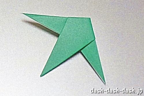 笹の葉の折り紙の作り方09