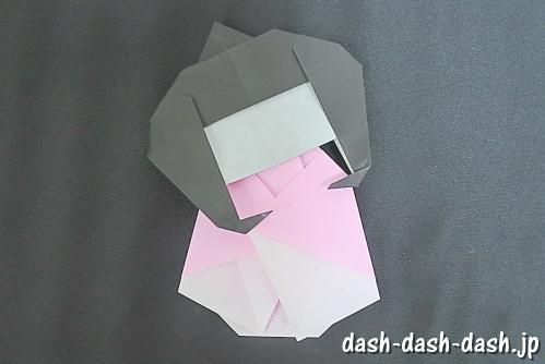 織姫の折り紙の折り方(簡単)02