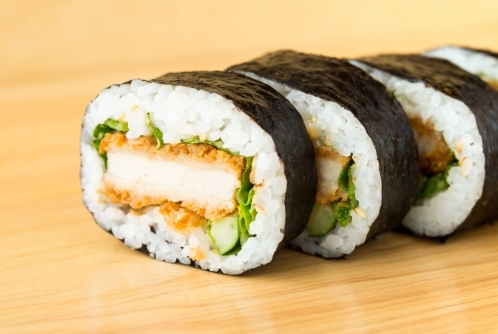 豚カツの太巻き寿司(恵方巻き)
