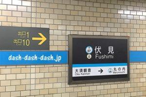 地下鉄鶴舞線伏見駅(上小田井方面)