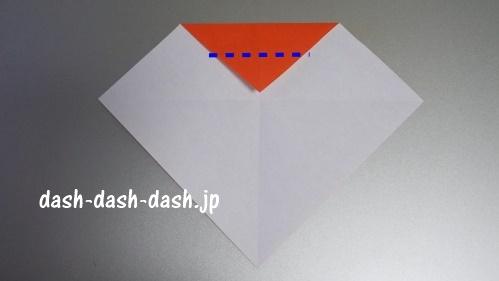 サンタの折り紙の簡単な折り方41