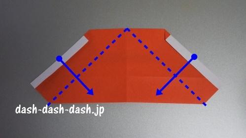 サンタの折り紙の簡単な折り方51