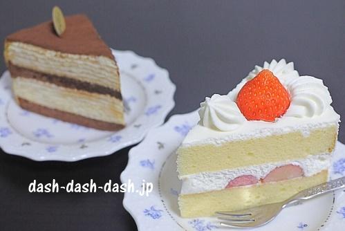 苺のショートケーキとティラミスのミルクレープ
