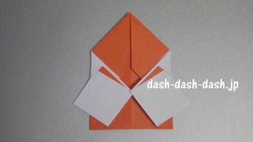 サンタの折り紙の簡単な折り方61