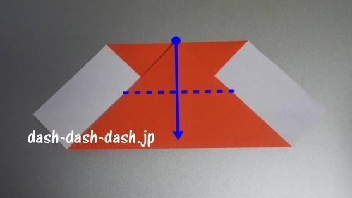 サンタの折り紙の簡単な折り方46
