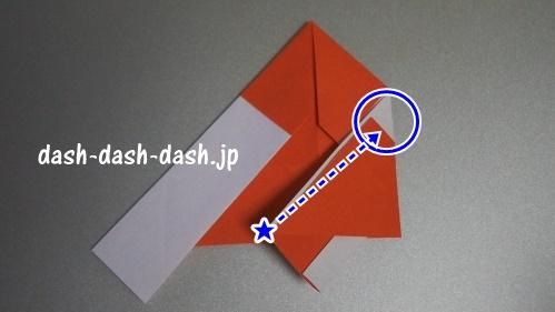 サンタの折り紙の簡単な折り方55