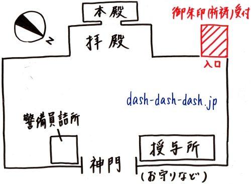 北海道神宮御朱印受付場所001