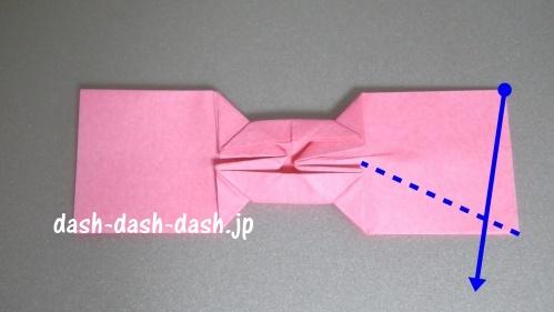 リボンの折り紙の折り方028