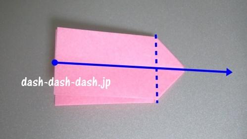 リボンの折り紙の折り方016