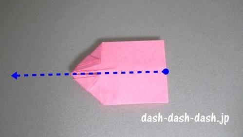 リボンの折り紙の折り方039