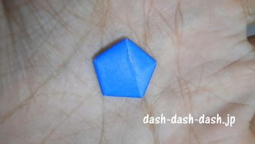 ラッキースターの折り紙の作り方044