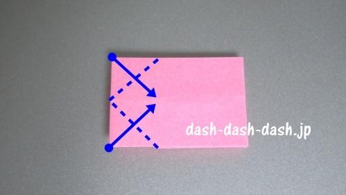 リボンの折り紙の折り方022