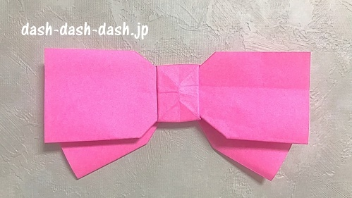 リボンの折り紙の折り方(完成図)