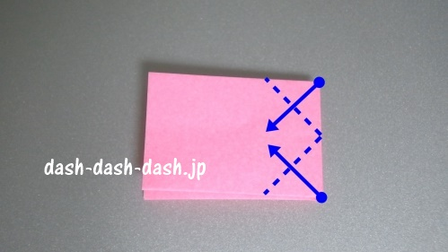 リボンの折り紙の折り方020