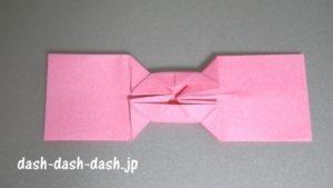 リボンの折り紙の折り方037