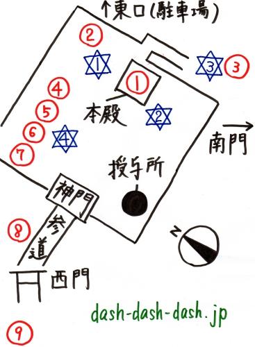 博多住吉神社境内マップ(ご利益・パワースポット)