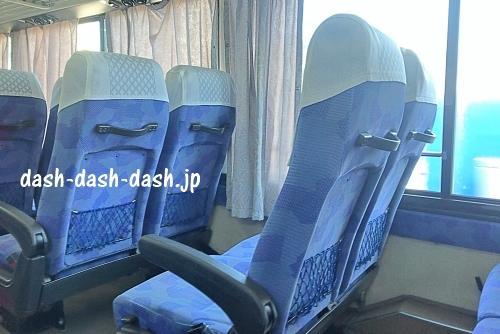 西鉄バス 天神~宗像大社・道の駅むなかた・神湊波止場(むなかた号)車内