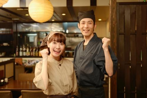 飲食店(居酒屋)の男性店長と女性アルバイト店員