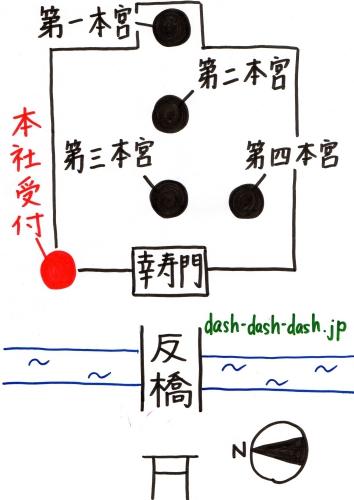 住吉大社御朱印受付場所(本社受付)の地図01
