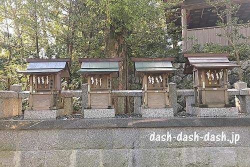 白山宮末社(恵比須社・神明社・秋葉社・御嶽社)