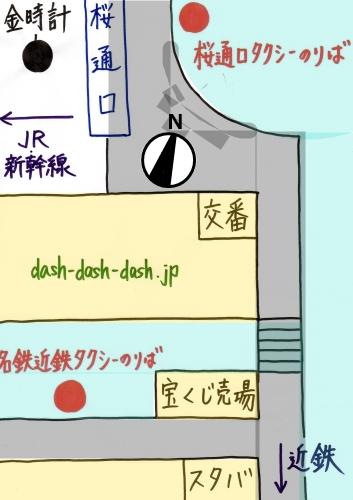 名古屋駅のタクシー乗り場の場所(桜通口・名鉄近鉄タクシー乗り場の地図)04