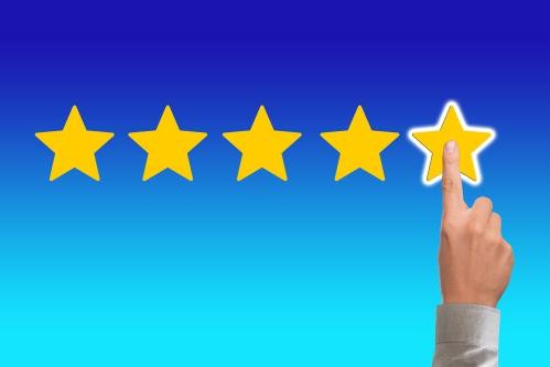 ホテル探しの際の参考材料になる星の数による評価(★5つ)