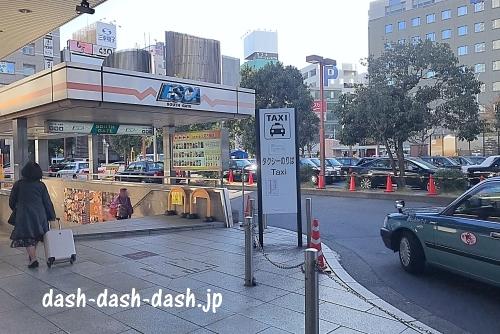 名古屋駅のタクシー乗り場(新幹線口・太閤通口・太閤口)02