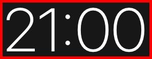 21時を示すデジタル時計
