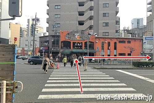 新栄町駅からダイアモンドホールの行き方02