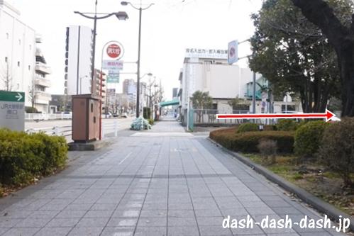 ナゴヤドームからJR大曽根駅(南口)の行き方04