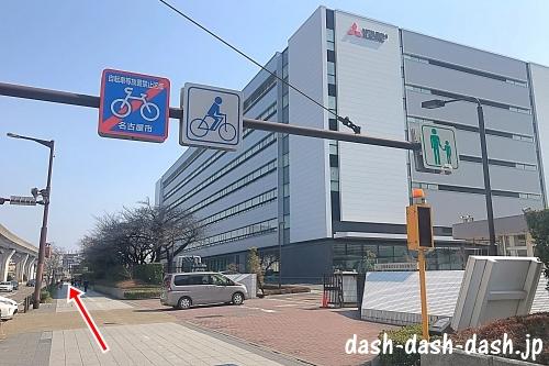 大曽根駅からナゴヤドームの徒歩での行き方03