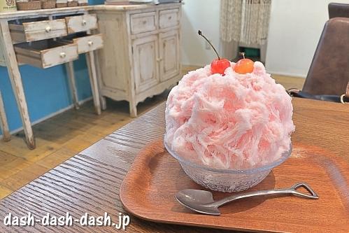 ボアヴェールテールのチェリーチェリーかき氷(山崎川四季の道周辺カフェ)