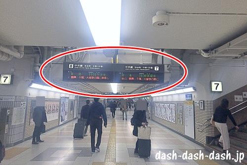 JR名古屋駅(中央本線ホームへ)