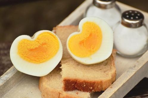 ゆで卵(ハート)